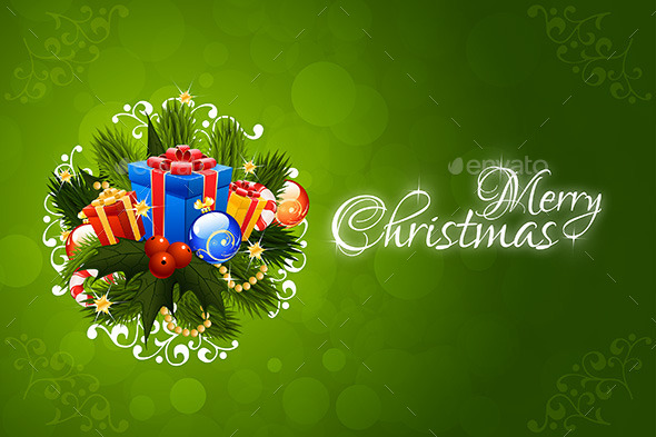 GraphicRiver Christmas Greeting Card Merry Christmas Lettering 9183868