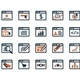 Icon Set. Web Development and SEO. Flat Design - GraphicRiver Item for Sale