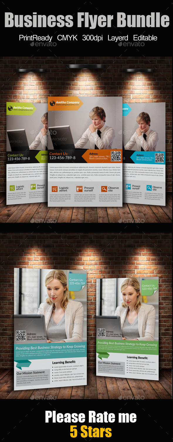GraphicRiver A4 Business Flyer Bundle 9184035