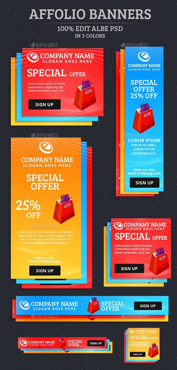GraphicRiver Affolio Banners 9184127