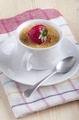 creme brulee with strawberry in a cup - PhotoDune Item for Sale