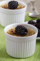 creme brulee with blackberries in a small bowl - PhotoDune Item for Sale
