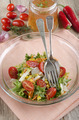 salad in a glass bowl with vinaigrette - PhotoDune Item for Sale