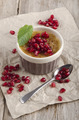 creme brulee with pomegranate seed - PhotoDune Item for Sale