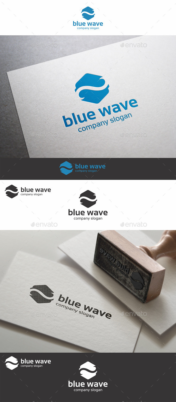 GraphicRiver Blue Wave Logo 9184726