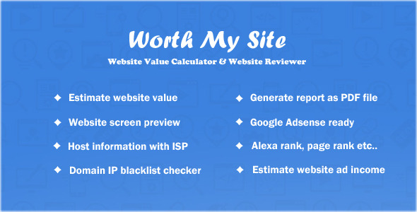 CodeCanyon Worth My Site Website Value Calculator 9184874
