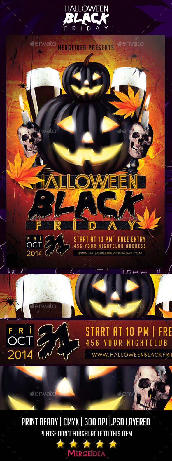 GraphicRiver Halloween Black Friday Flyer 9184890
