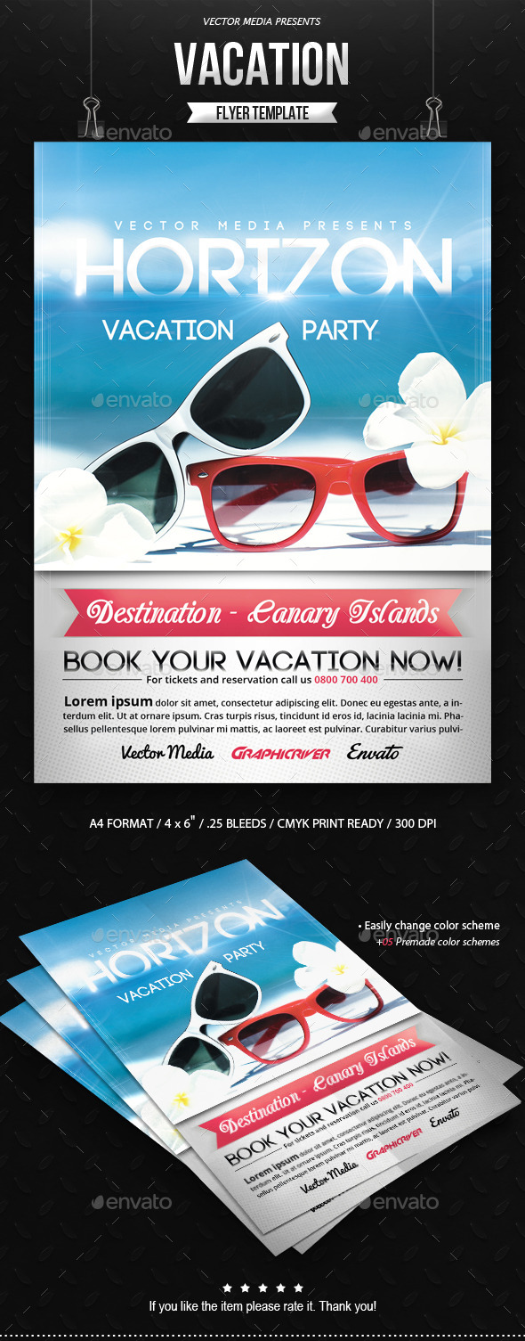 GraphicRiver Vacation Flyer 9185006