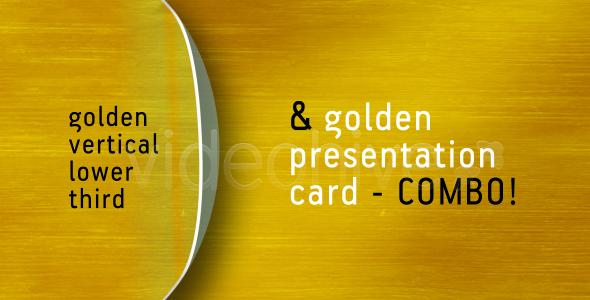 Golden LOWER THIRD & PRESENTATION CARD combo