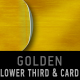 Golden LOWER THIRD & PRESENTATION CARD - combo - VideoHive Item for Sale