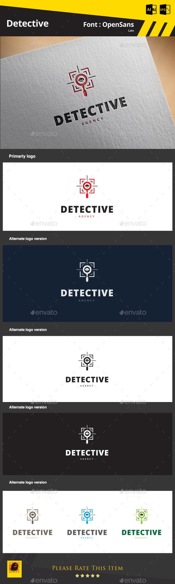 GraphicRiver Detective Logo 9185636