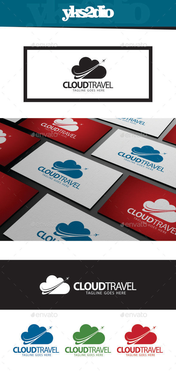 GraphicRiver Cloud Travel Logo 9185652
