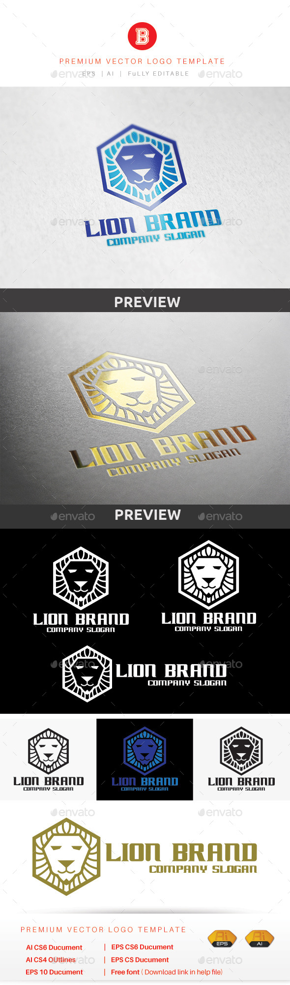 GraphicRiver Lion Brand 9185679