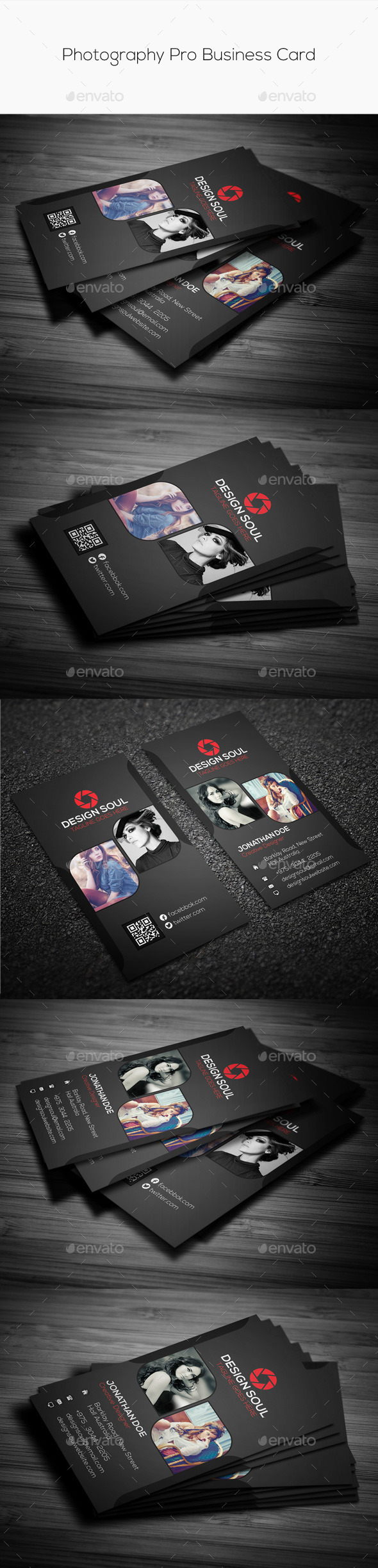 GraphicRiver Photography Pro Business Card 9185808