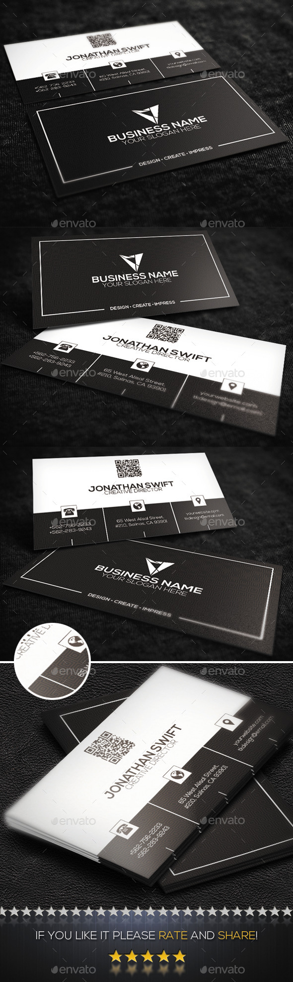 GraphicRiver Corporate Business Card No.03 9186508
