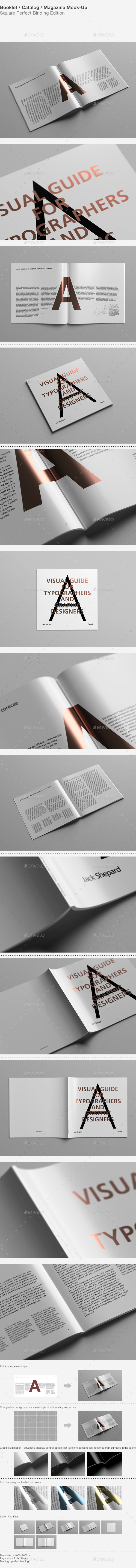 GraphicRiver Booklet Catalog Magazine Mock-Up 9186661