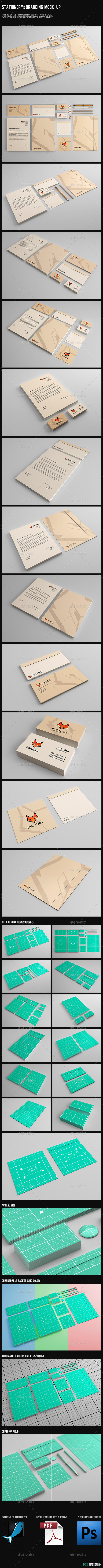 GraphicRiver Stationery & Branding Mock-Up 9186667