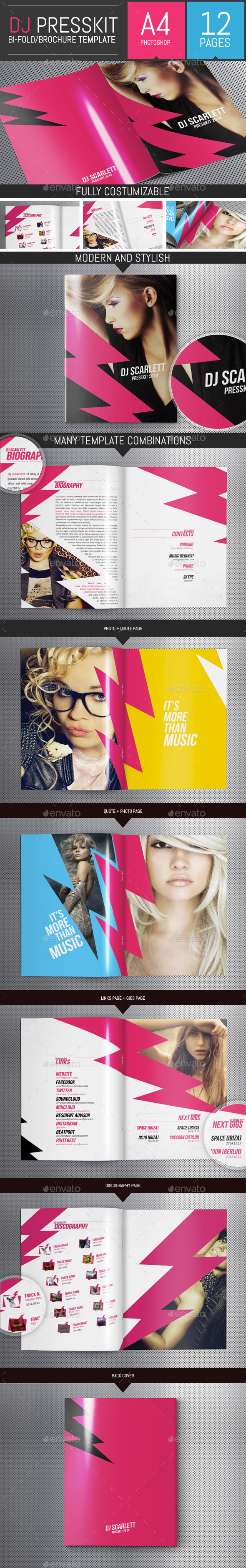 Indesign press release template for Dj press kit template free