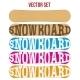Snowboard Sample Flat Symbols for Design - GraphicRiver Item for Sale