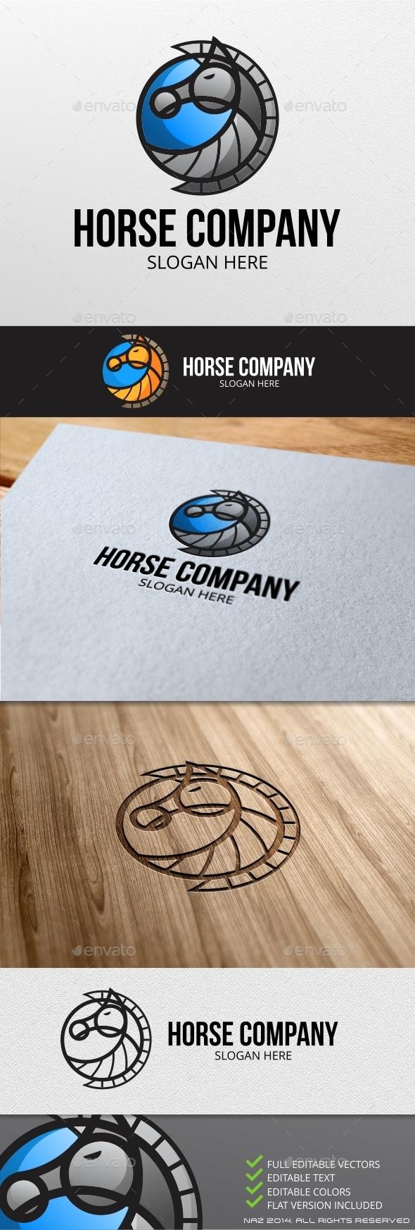 GraphicRiver Horse Company Logo 9187974