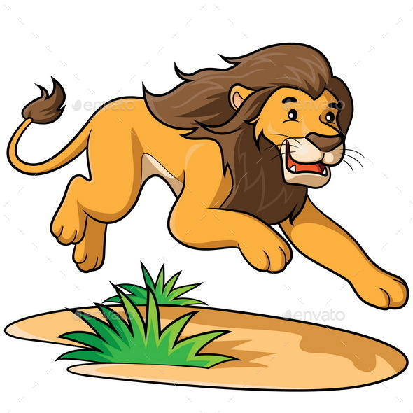 GraphicRiver Lion Cartoon 9188193