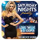 Saturday Nights Flyer + Instagram Promo - GraphicRiver Item for Sale