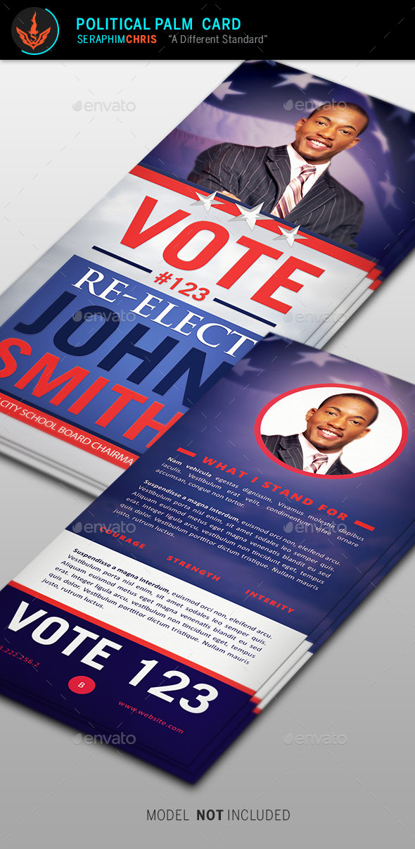 GraphicRiver Re-Election Palm Card Template 9188627