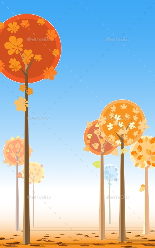 GraphicRiver Autumn Trees 9188677