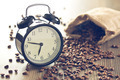 vintage alarm clock and coffee beans - PhotoDune Item for Sale