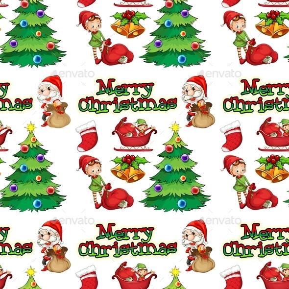 GraphicRiver Seamless Christmas 9188758