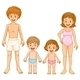 A Family in their Swimming Attire - GraphicRiver Item for Sale
