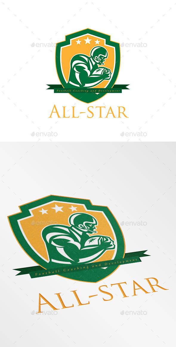 GraphicRiver All-Star Football Coaching Logo 9188844