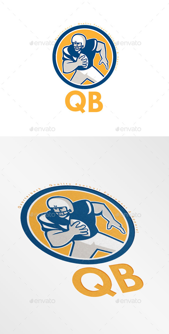 GraphicRiver QB Quality Football Equipment Logo 9188854