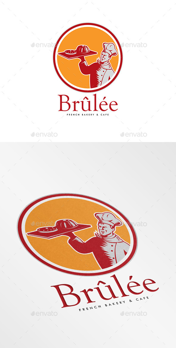 GraphicRiver Brulee French Bakery Logo 9188887