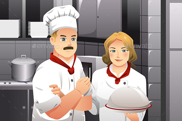 GraphicRiver Chef holding a Plate of Food 9188889