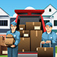 Movers Carrying Boxes - GraphicRiver Item for Sale