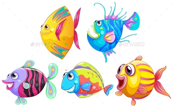 GraphicRiver A Group of Smiling Fishes 9189246