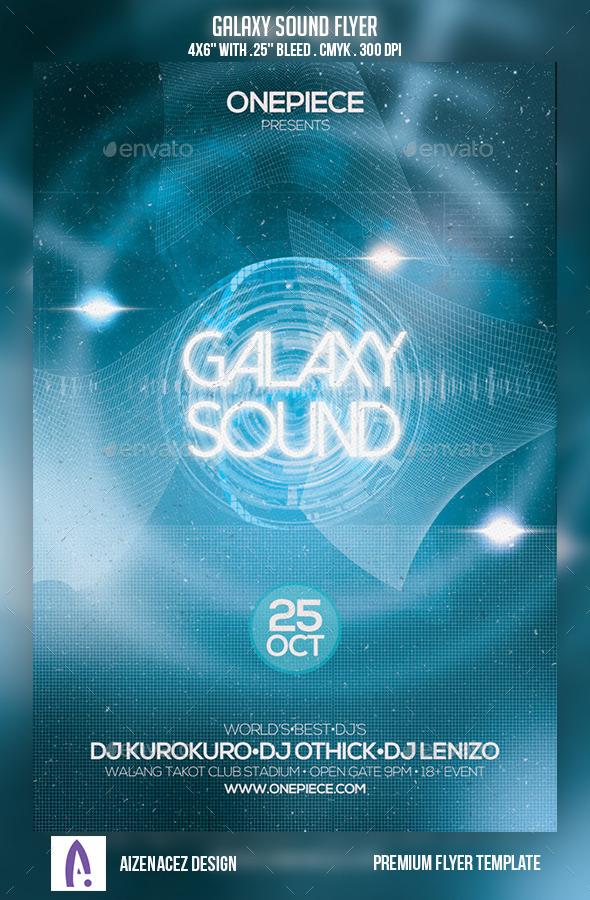 GraphicRiver Galaxy Sound Flyer 9189257