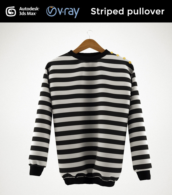 3DOcean Striped pullover 9189280