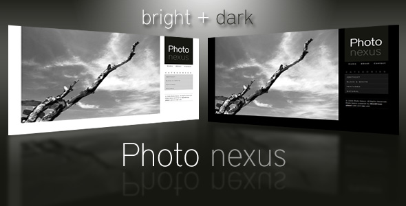 Photo Nexus Wordpress gallery 2 in 1 - Photo Nexus preview This is the preview image for the Photo Nexus Bright and Dark themes.