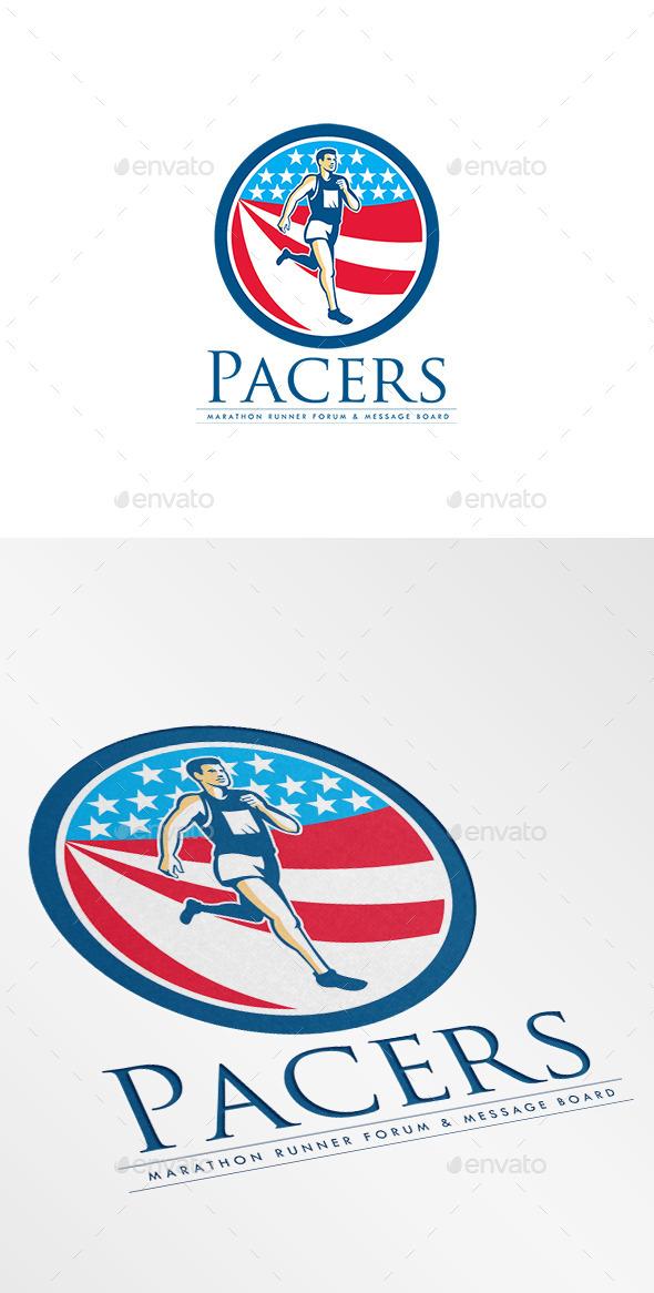 GraphicRiver Pacers Marathon Runners Forum Logo 9189331