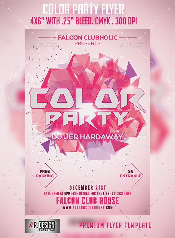 GraphicRiver Color Party Flyer 9161213