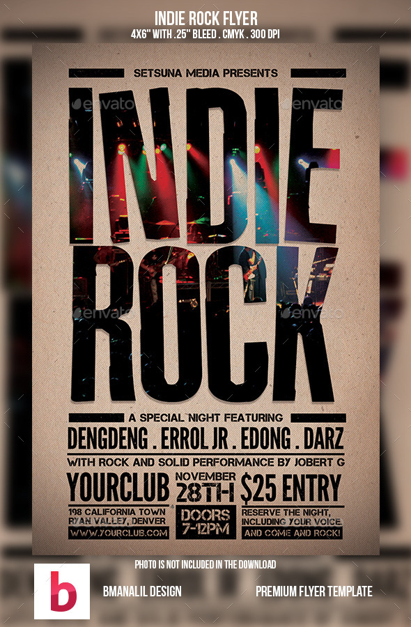 Indie Rock Flyer Vol.2