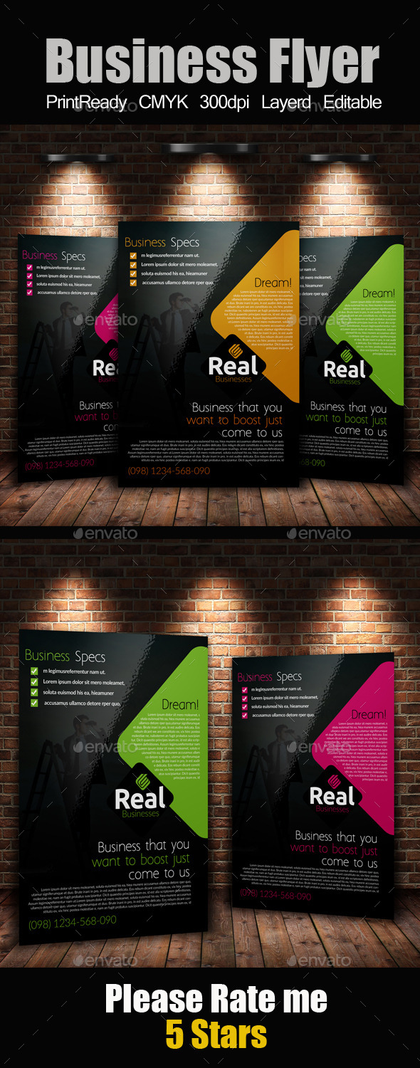 GraphicRiver A4 Business Flyer 9140658