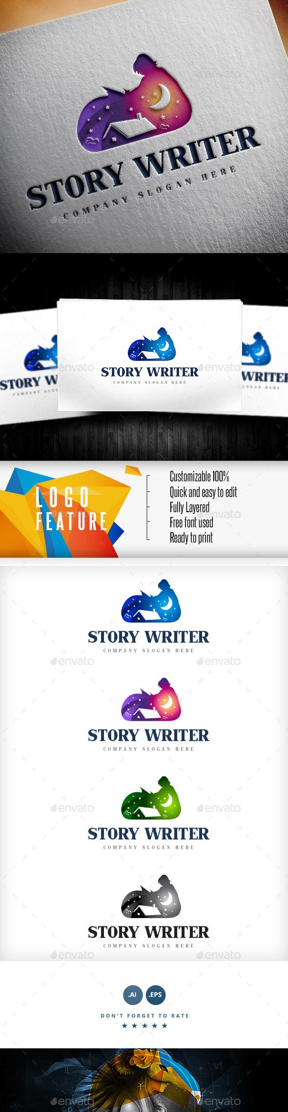 GraphicRiver Story Writer Logo 9189529