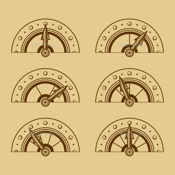 GraphicRiver Set of Indicators in Retro Style 9189530