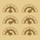 Set of Indicators in Retro Style - GraphicRiver Item for Sale