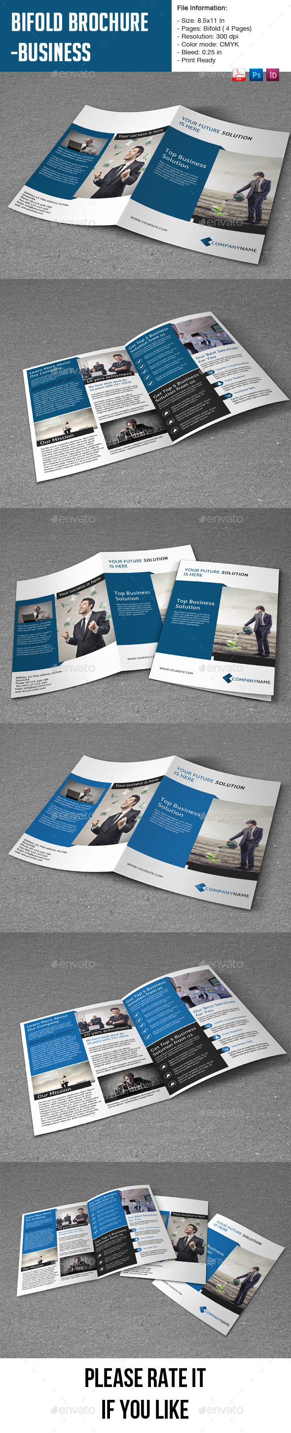GraphicRiver Bifold Brochure for Business-4 pages 9189541