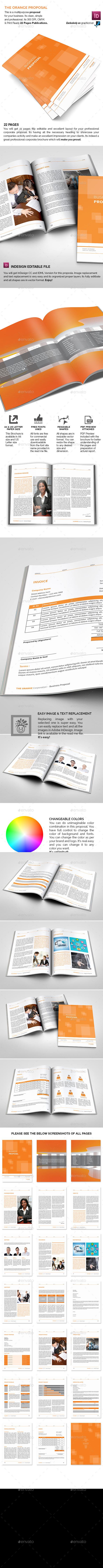 GraphicRiver The Simple Orange Proposal 9189581