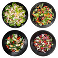 Set of Different Salads on White Background - PhotoDune Item for Sale